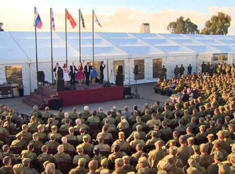 Артисты имузыканты посетили русских военных вСирии